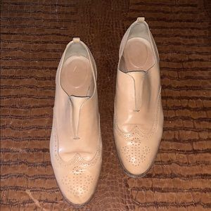 J Crew Slip On Oxfords In Toasted Wheat Size 9.5